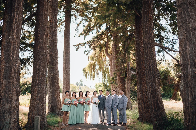 bridal party at terra nova park richmond bc wedding photography