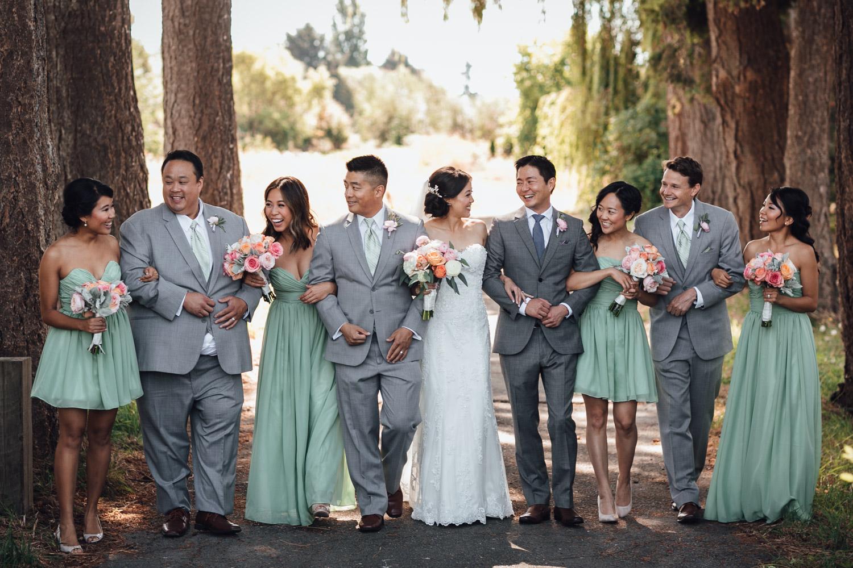 richmond wedding photography at terra nova park bridal party candid