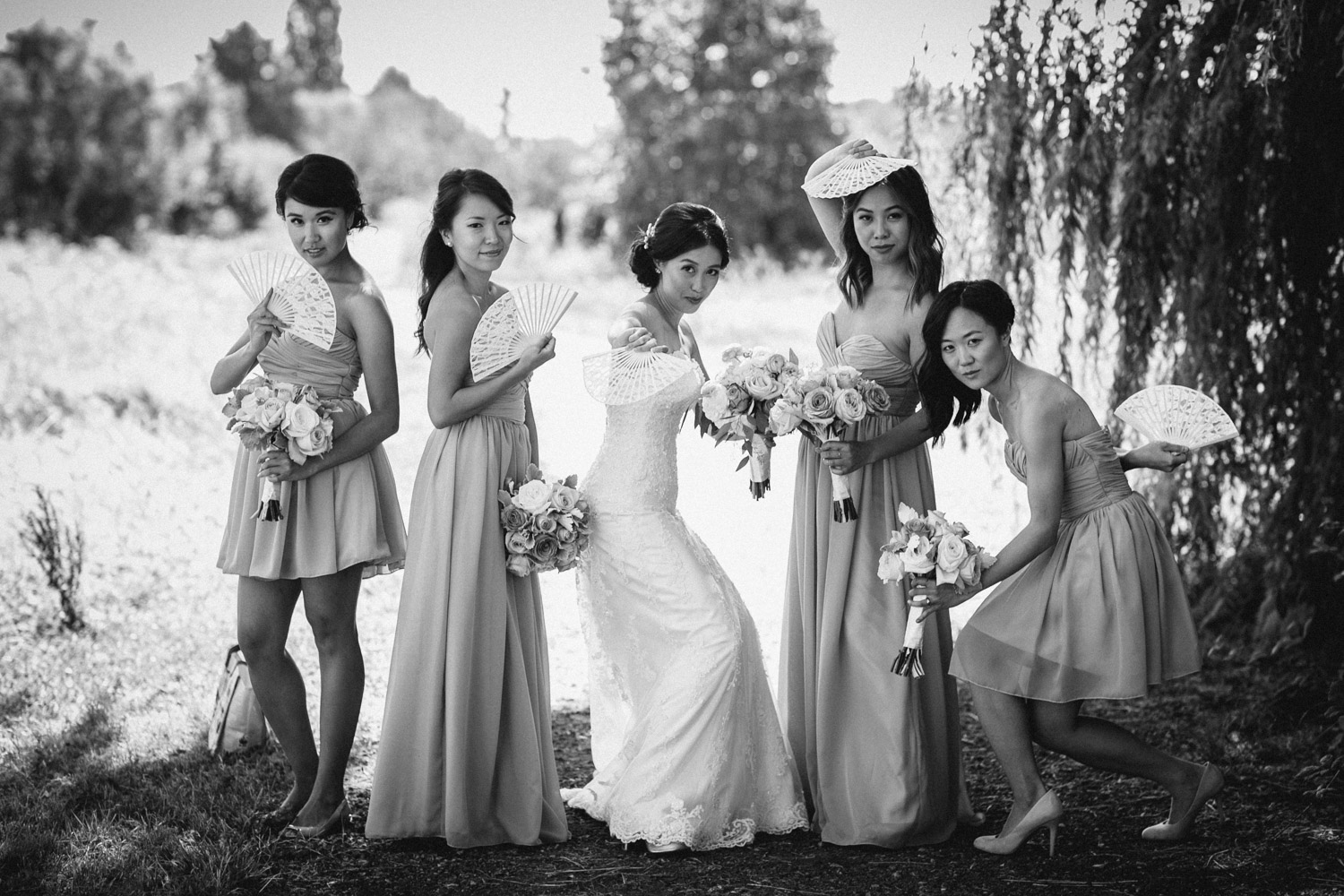 richmond wedding photography bc candid chinese fans