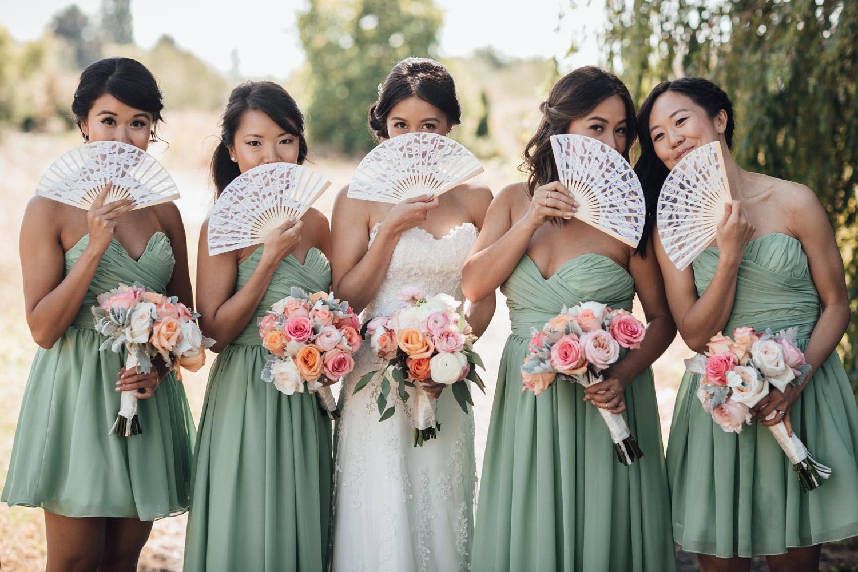 richmond wedding photography bridesmaids terra nova park