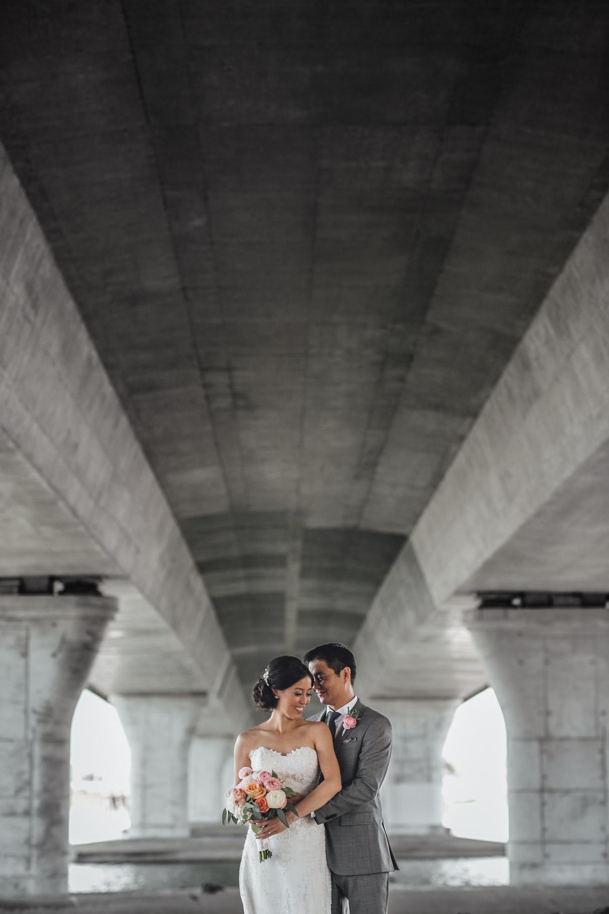 richmond wedding photography under bridge portraits