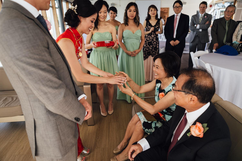 chinese tea ceremony wedding ubc boathouse in richmond bc