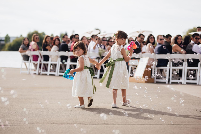 flower girls ubc boathouse water guns richmond bc wedding photography