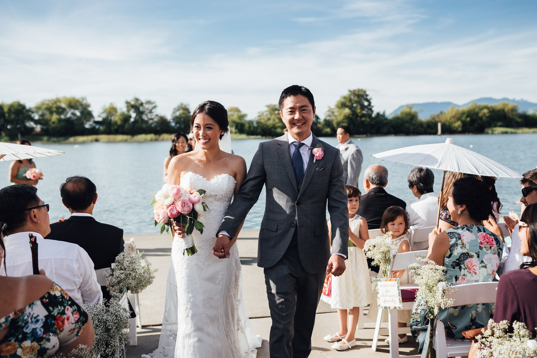 ubc boathouse wedding photography richmond bc processional