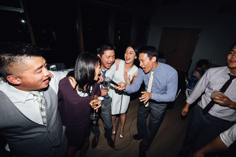 ubc boathouse wedding reception richmond bc photography karoke
