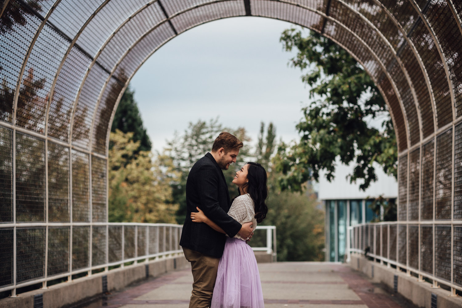 north vancouver engagement photography at waterfront park bc