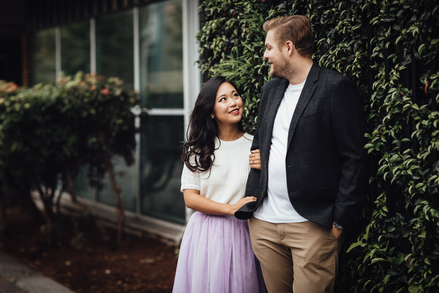 north vancouver engagement photographer at waterfront park bc