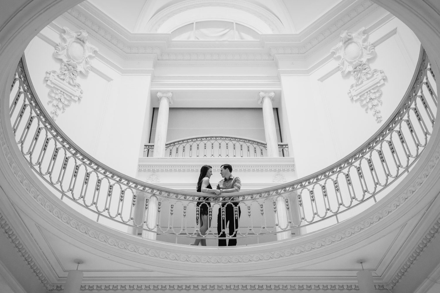 art gallery vancouver engagement photography session