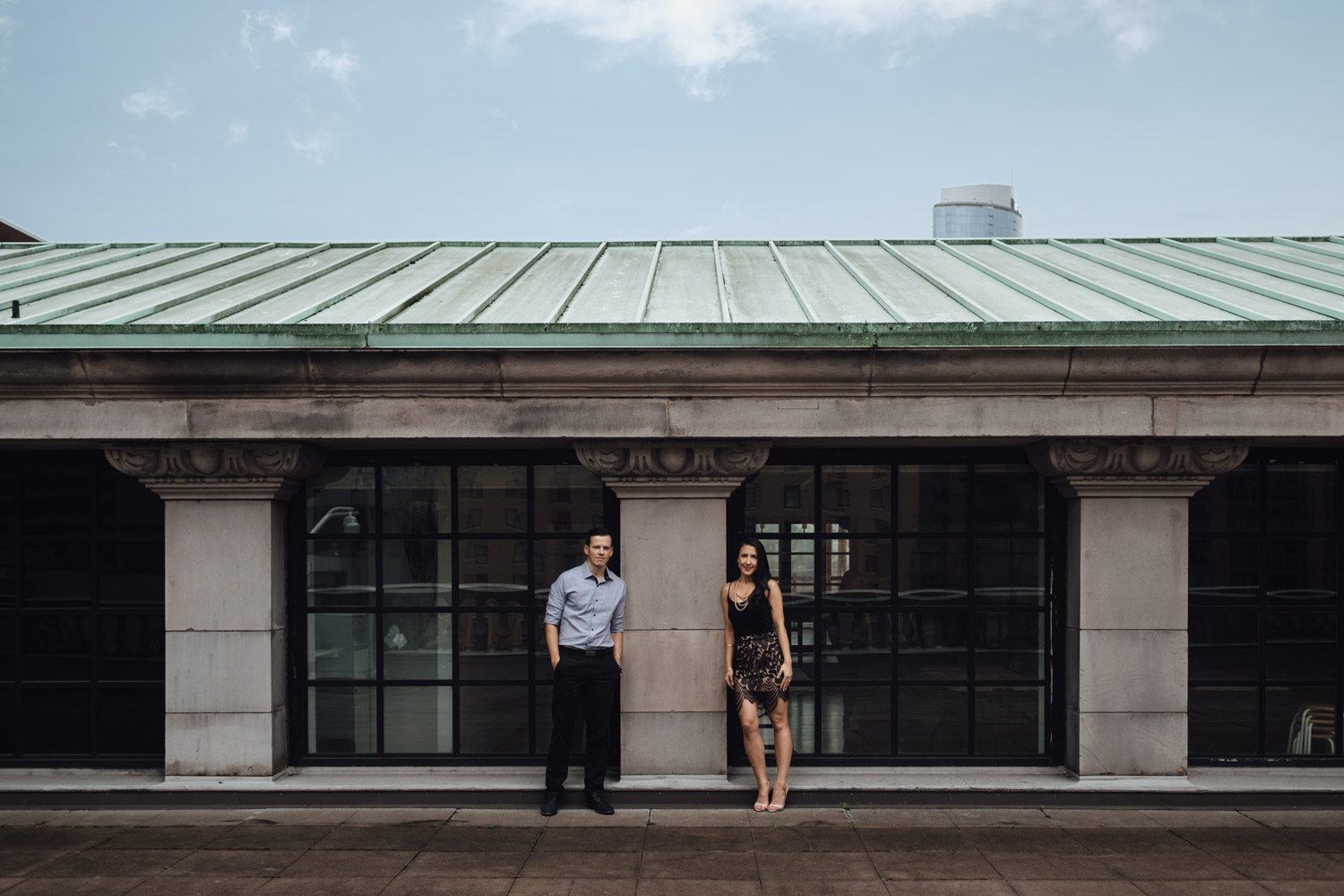 vancouver art gallery engagement photography rooftop autumn fall season