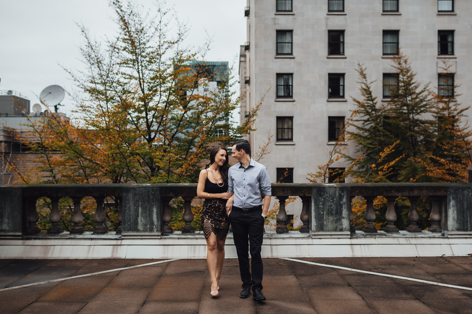 vancouver art gallery downtown engagement photography bc