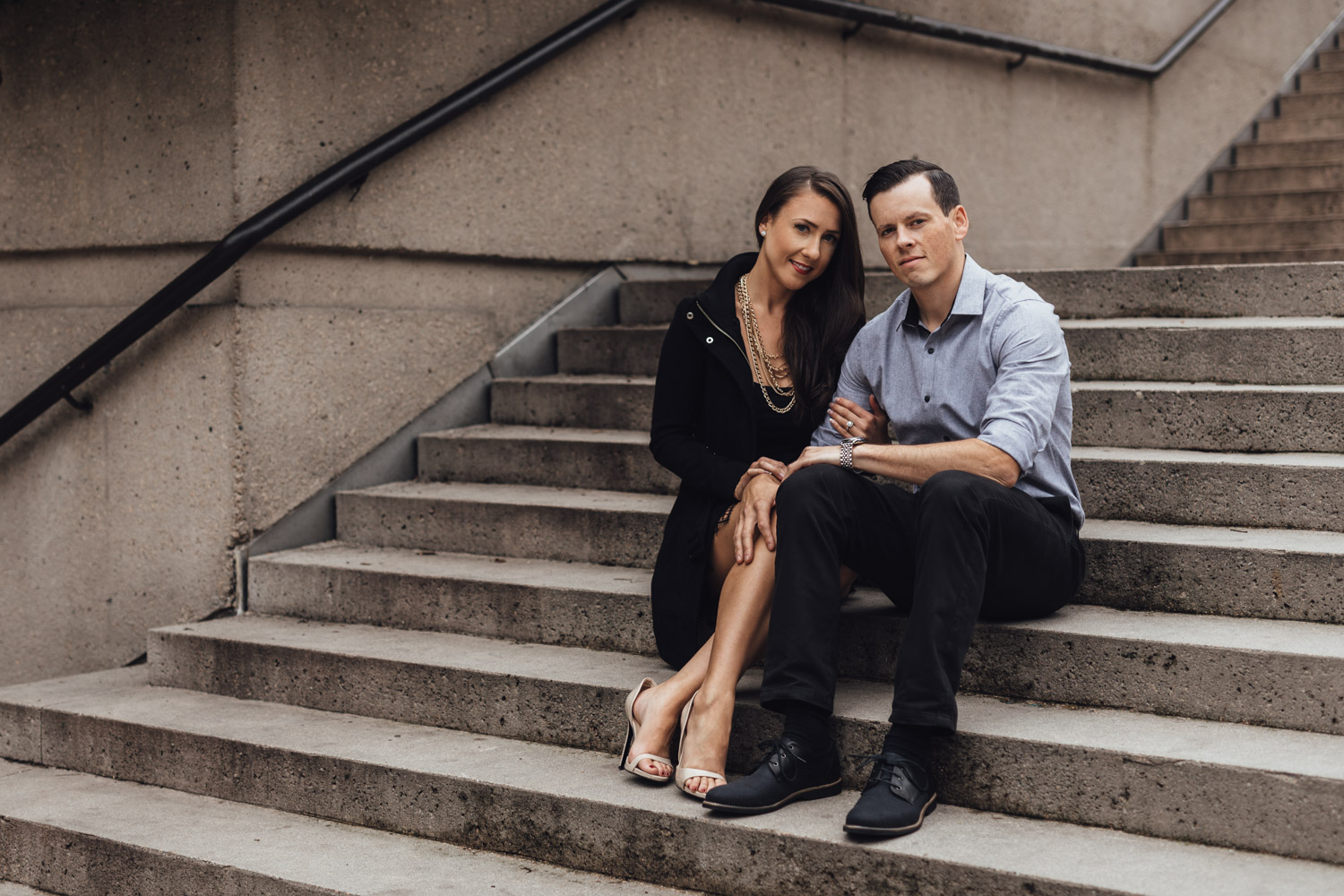 robson square downtown vancouver engagement photographer