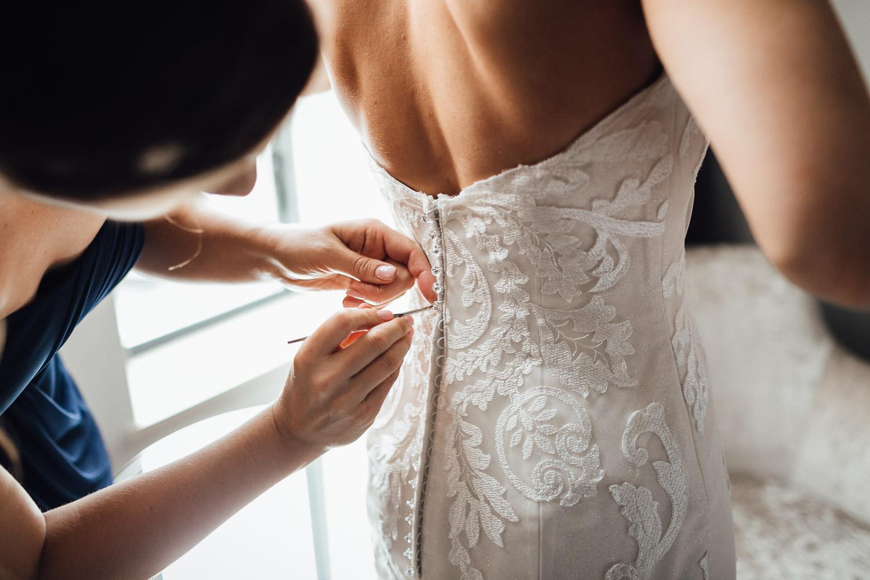 Bride wedding dress detail burnaby wedding photography