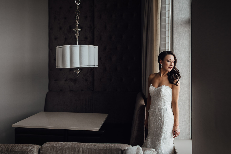 burnaby wedding photography bride portrait by window
