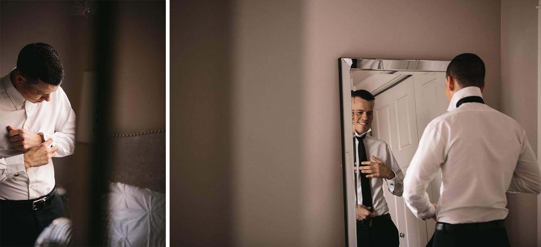 groom getting ready in richmond wedding photography