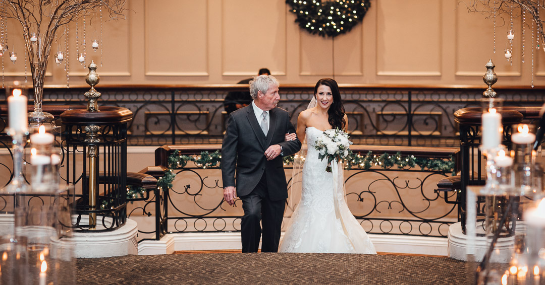 bride and father walk down the aisle swaneset wedding photography pitt meadows