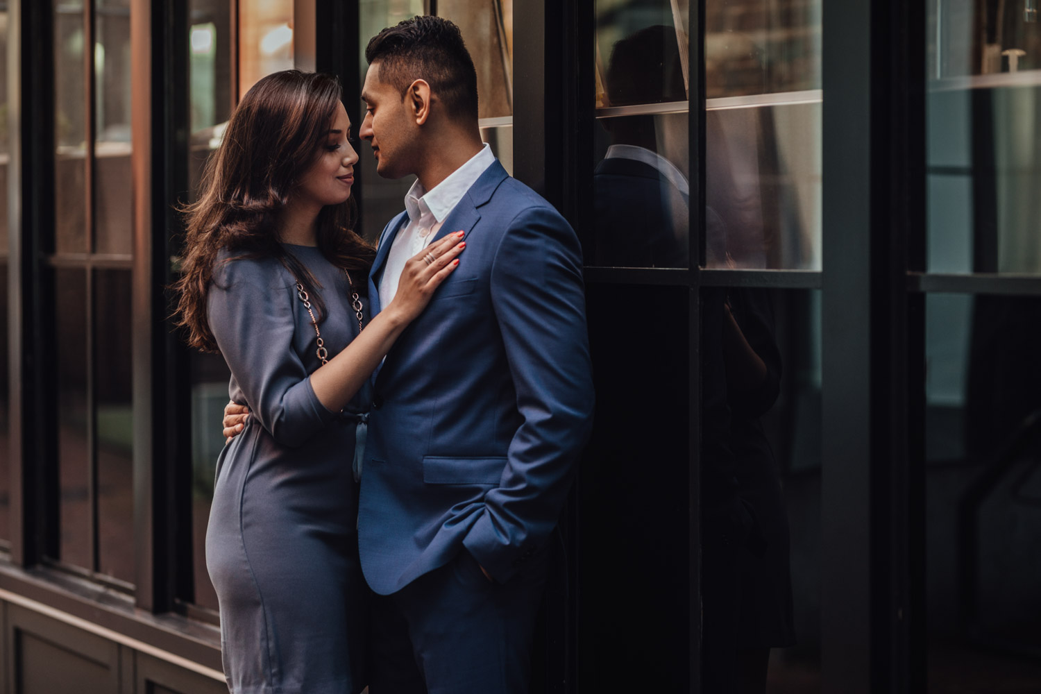 tasnia and jamin wedding engagement photography in gastown vancouver bc