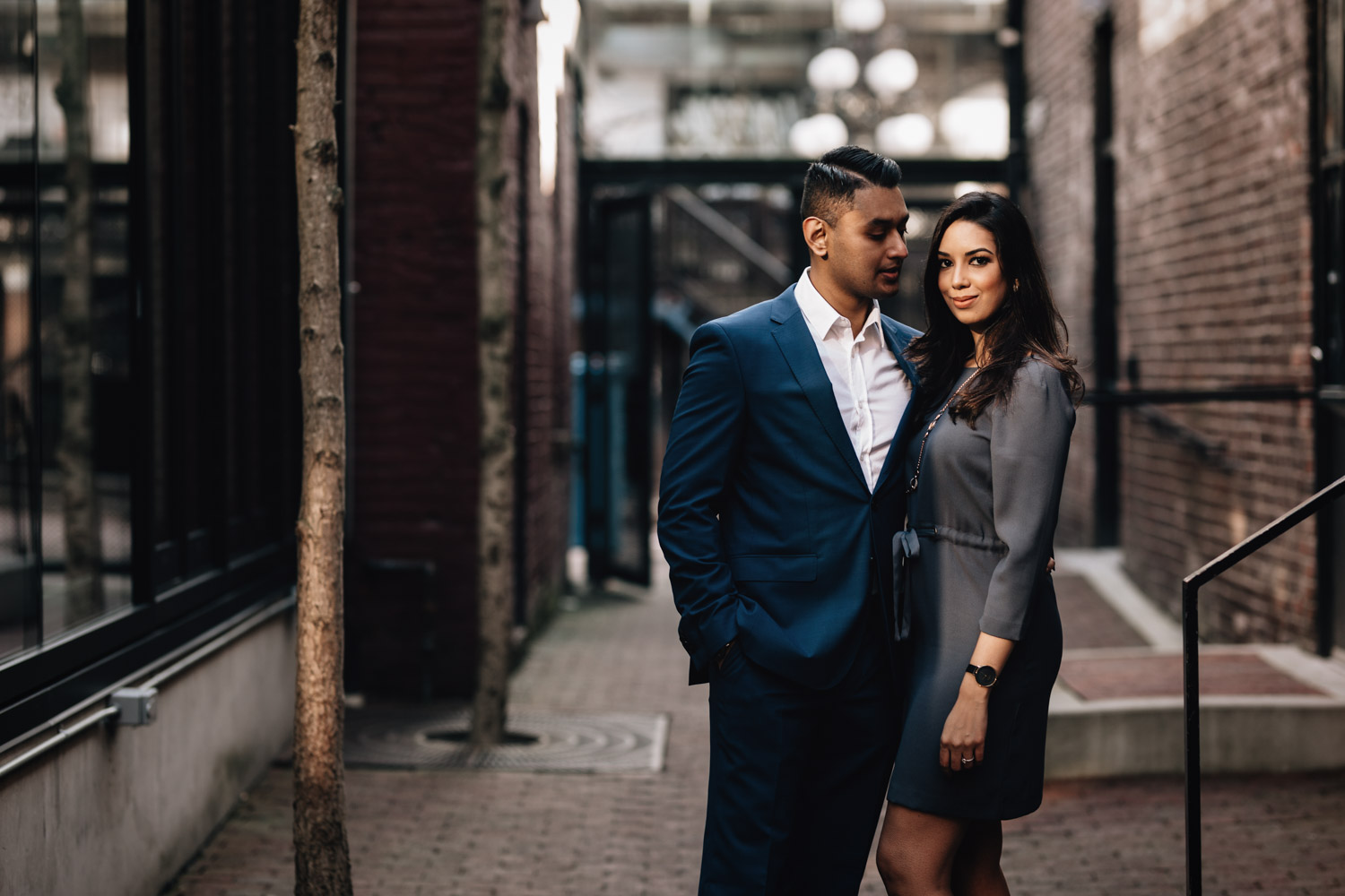 engagement photography gastown vancouver bc