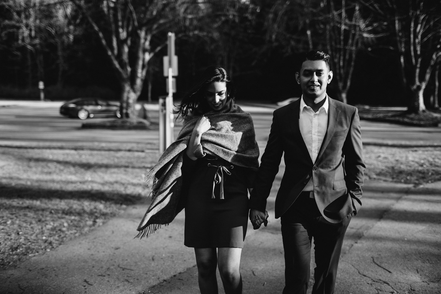 black and white engagement photography vancouver bc stanley park third beach