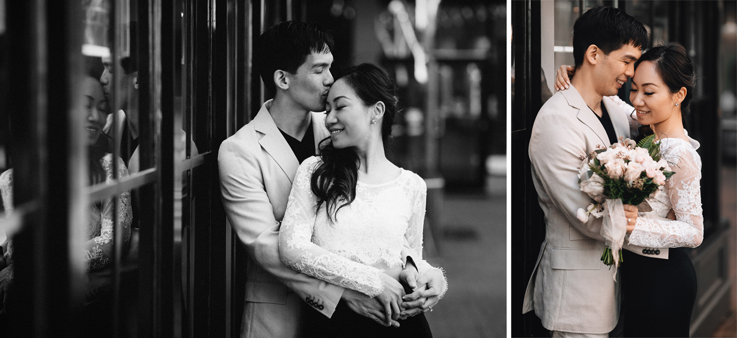 vancouver gastown engagement photography sunset