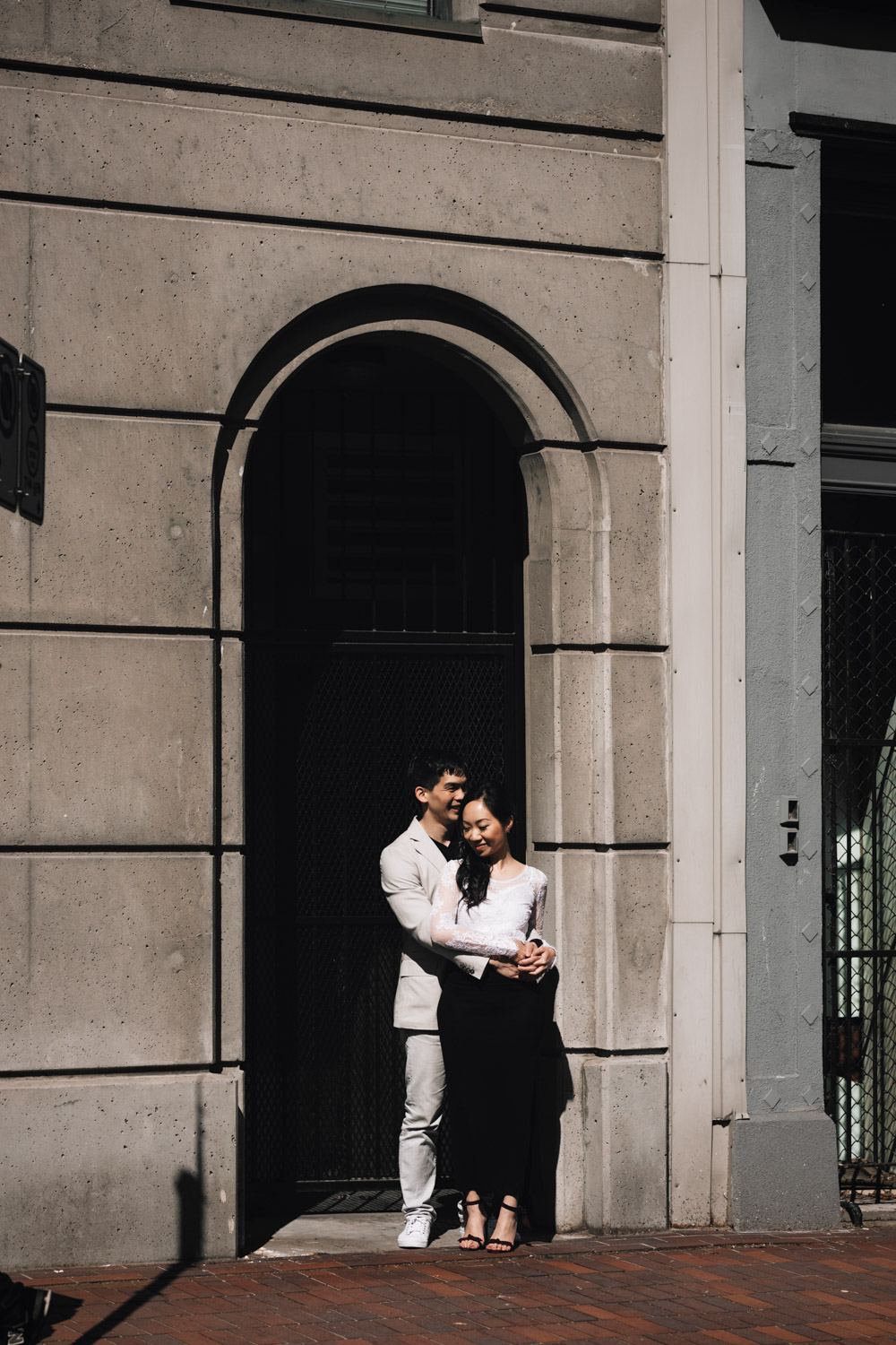vancouver engagement photography gastown sunset