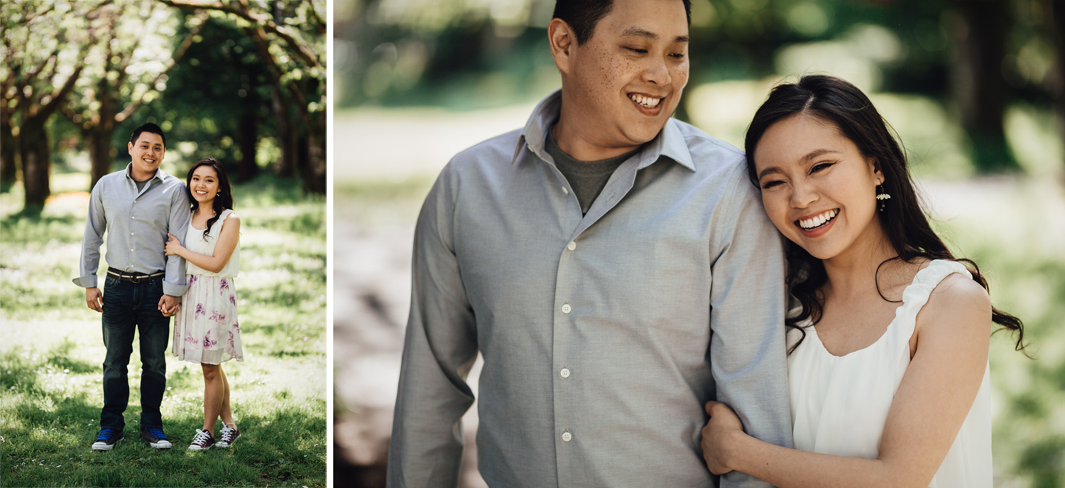 stanley park rose garden engagement photography vancouver bc
