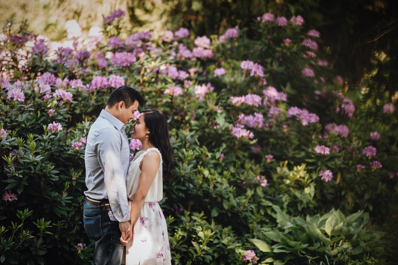 stanley park rose garden summer engagement photography vsco