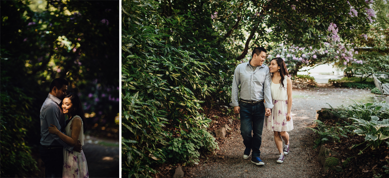 stanley park engagement photography at rose garden vancouver bc