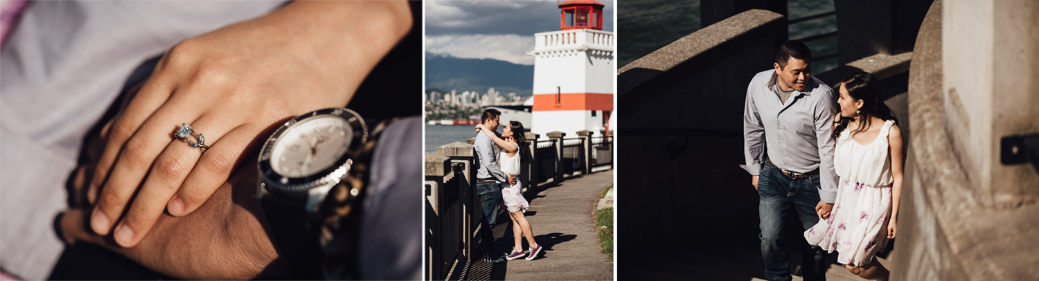 stanley park lighthouse engagement photography vancouver bc