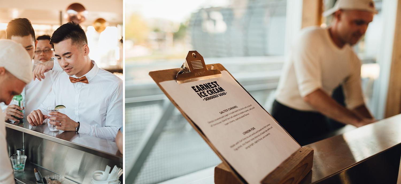 ubc boathouse wedding reception earnest ice cream catering