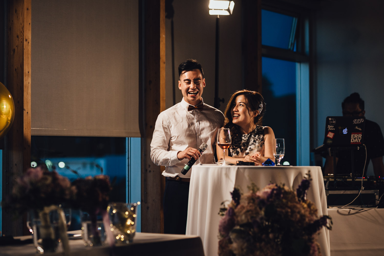 ubc boathouse wedding sunset reception photography bc