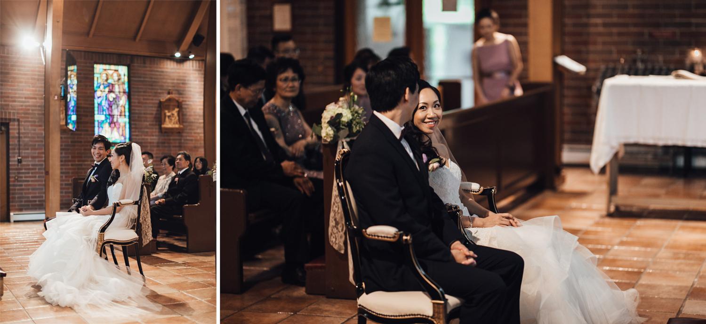 st. anthony's parish wedding photography vancouver ceremony