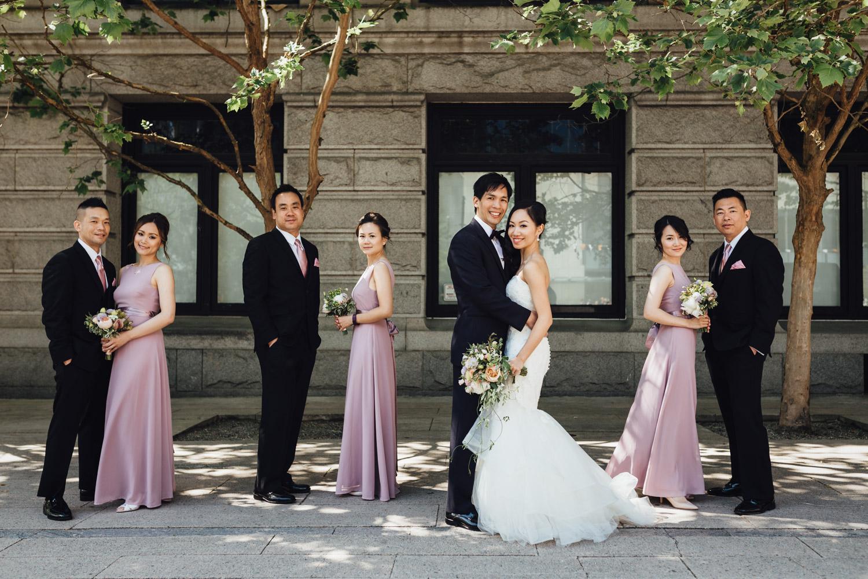 vancouver art gallery wedding photography bride groom portraits
