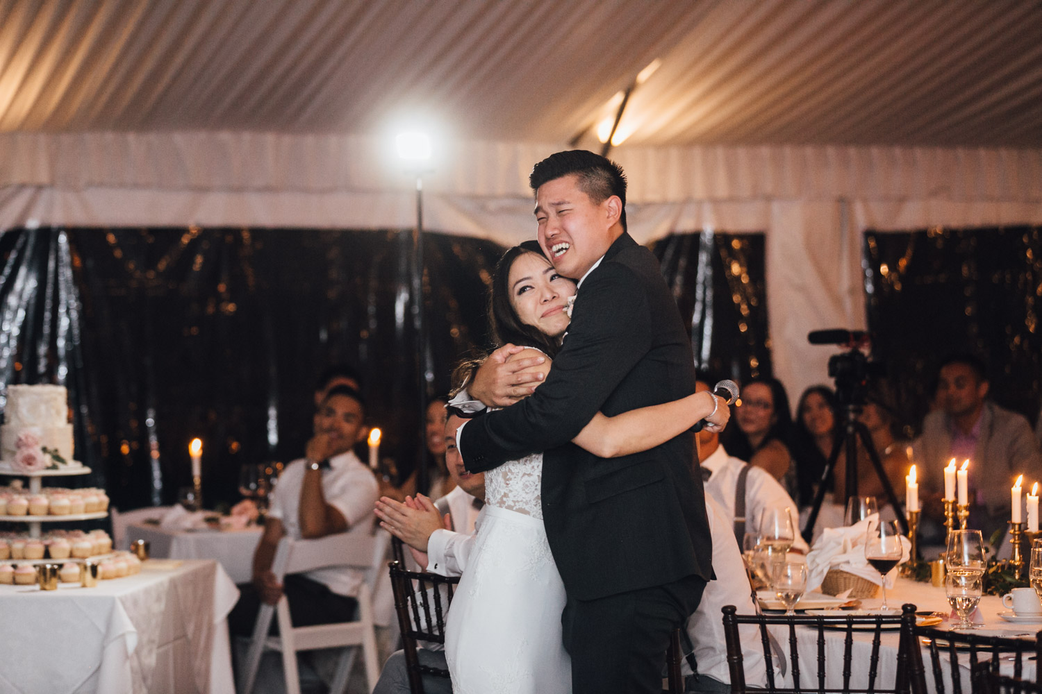 vancouver wedding reception photography at hart house restaurant in bc