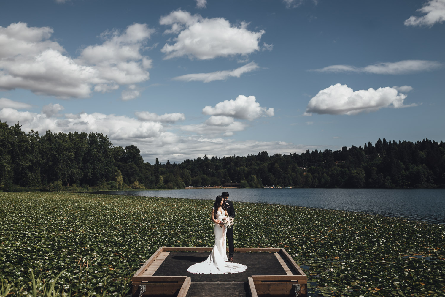 burnaby wedding photography at deer lake park bride and groom portraits