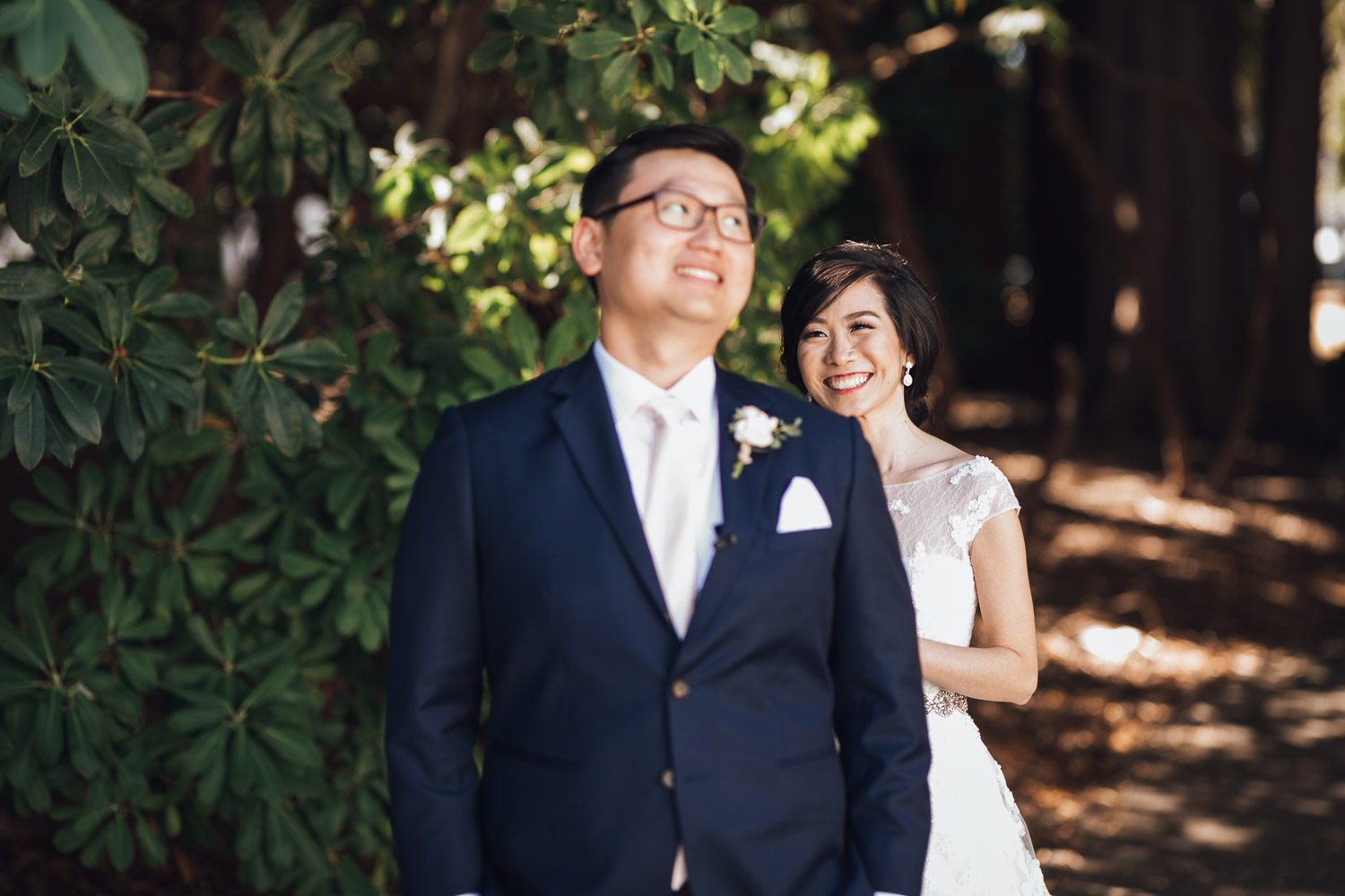 first look at ubc vancouver wedding photography