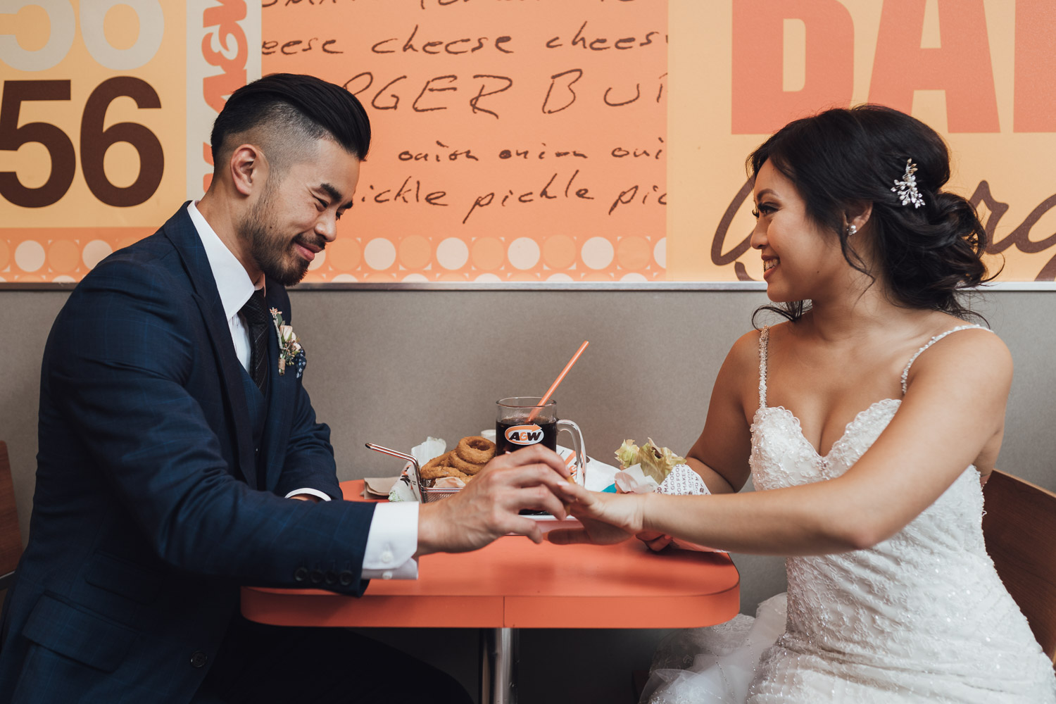 a&w restaurant wedding fun vancouver bc photography
