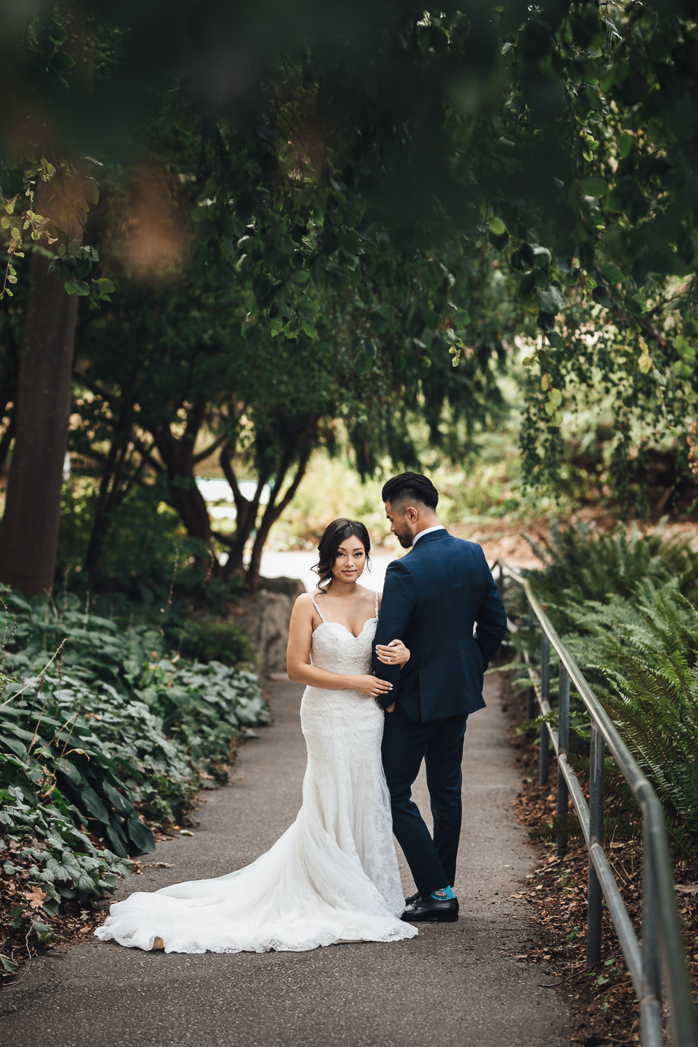 queen elizabeth park wedding photography portrait bc