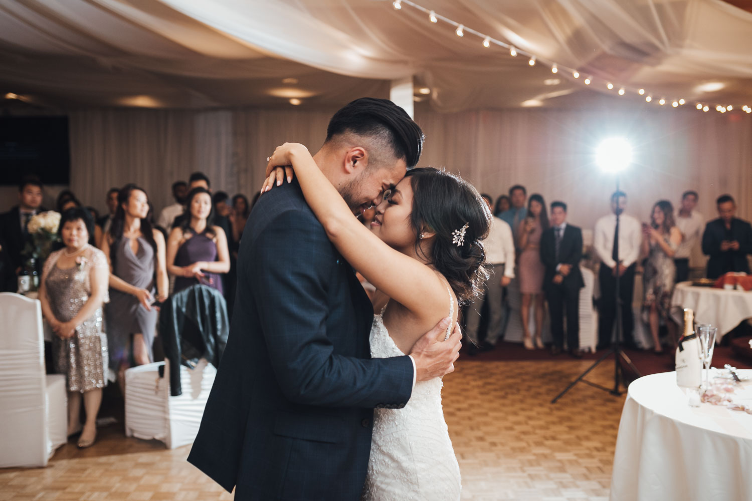 first dance continental seafood restaurant wedding reception photography