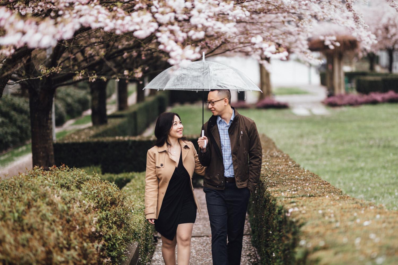 cherry blossom engagement session vancouver engagement photographer