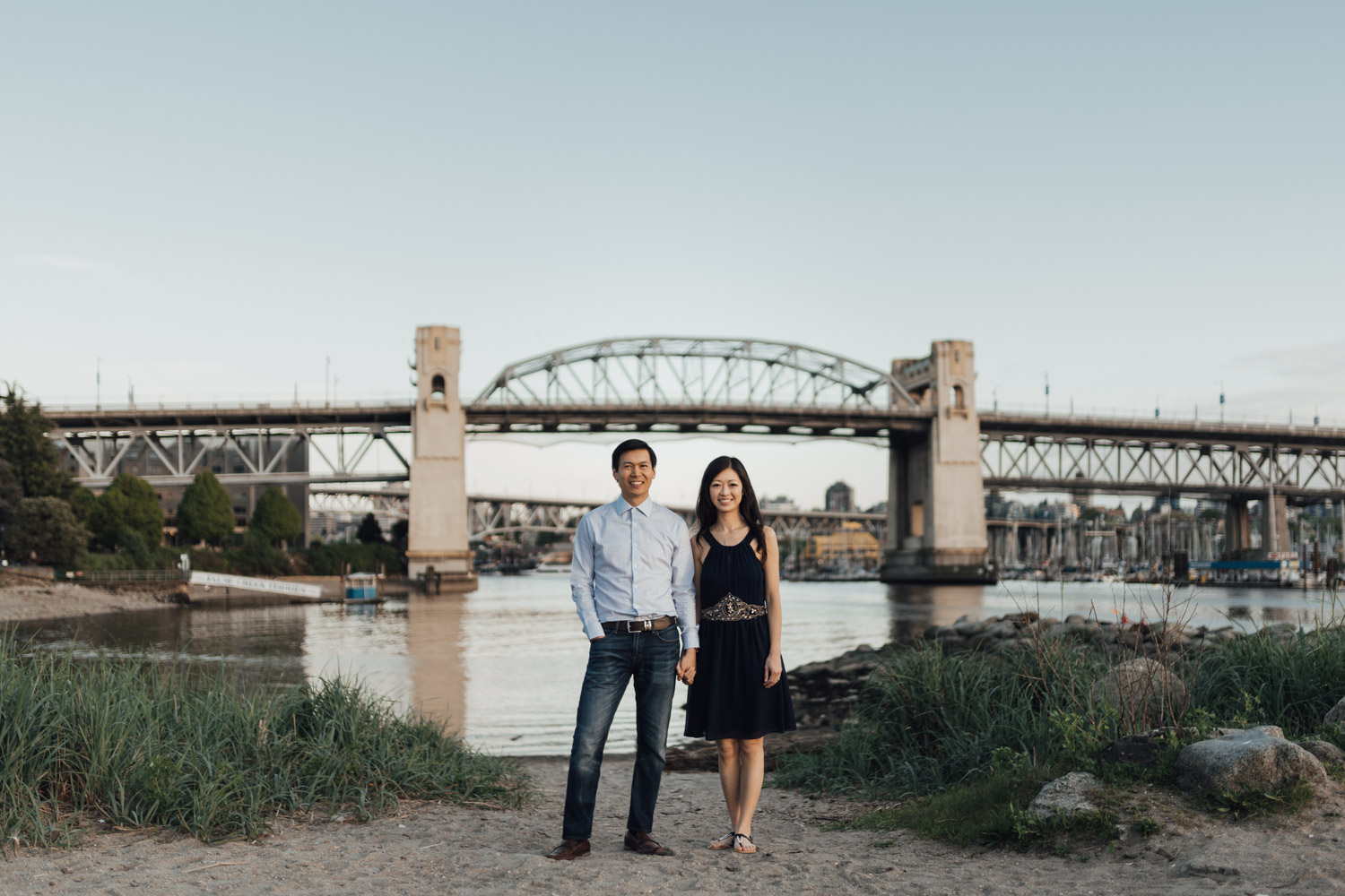 sunset beach engagement photography vancouver bc