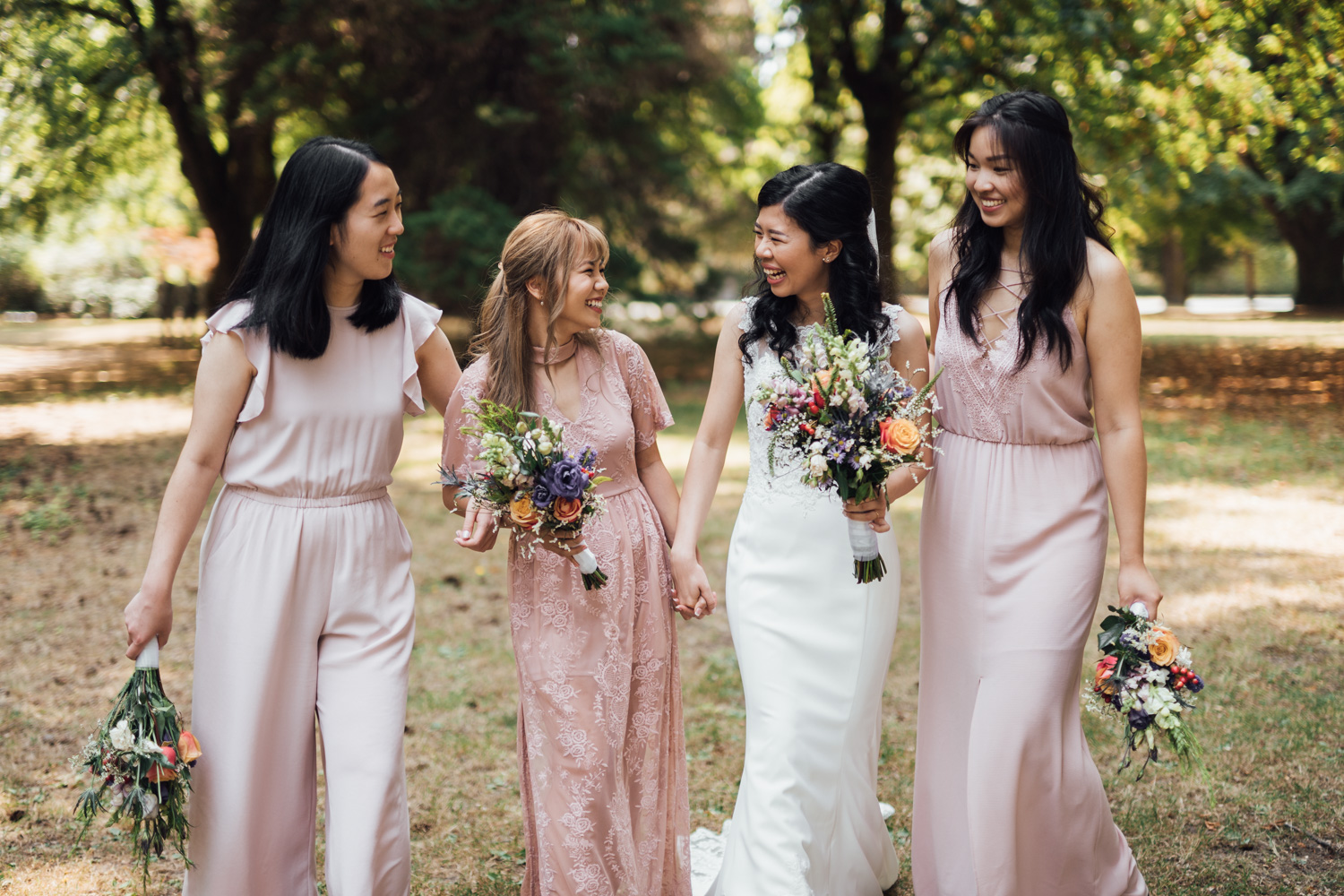 shaughnessy park bridal party portraits in vancouver wedding photography