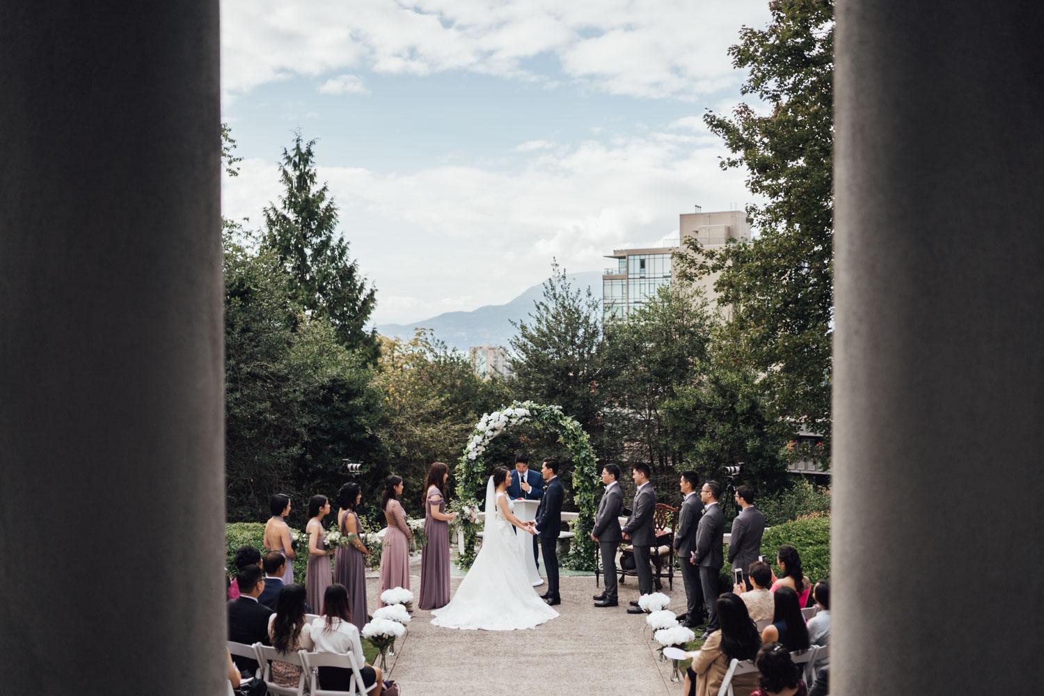 vancouver korean wedding photography hycroft manor terrace