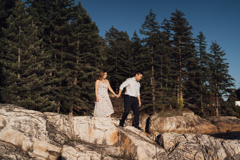 west vancouver lighthouse park engagement photography vsco summer sunset