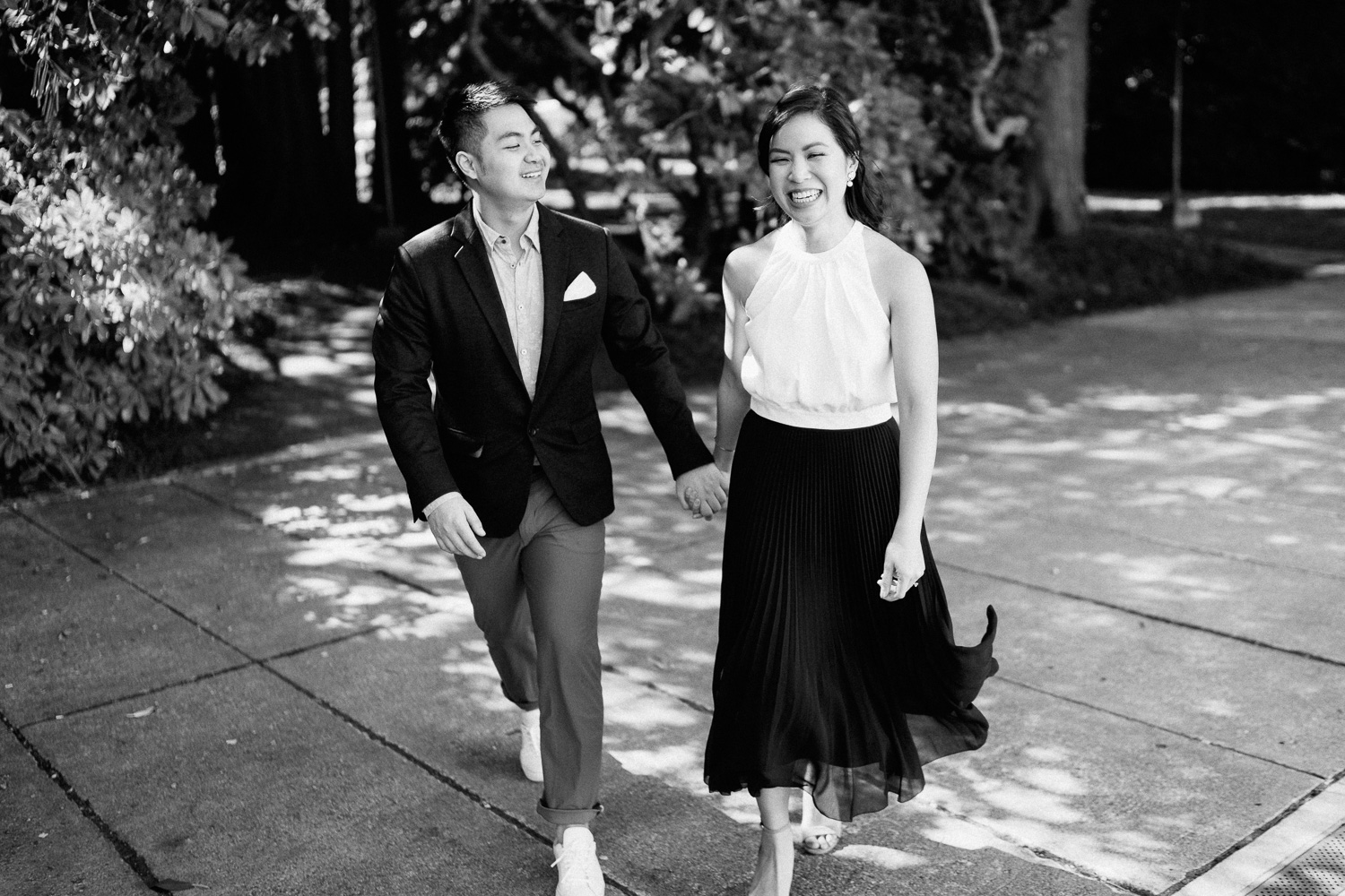 UBC asian engagement photography filipino candid in Vancouver, BC