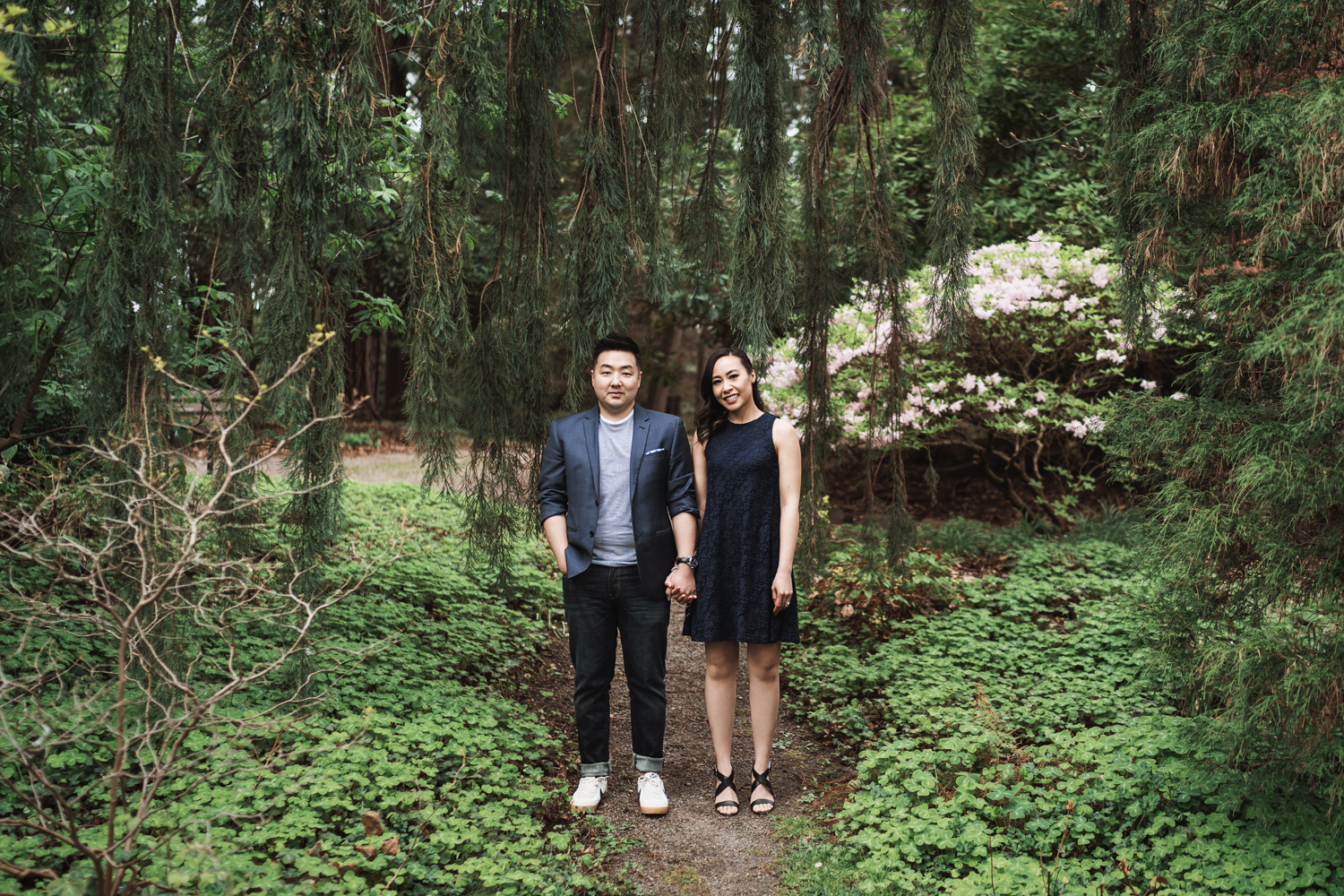 vancouver stanley park engagement photography spring
