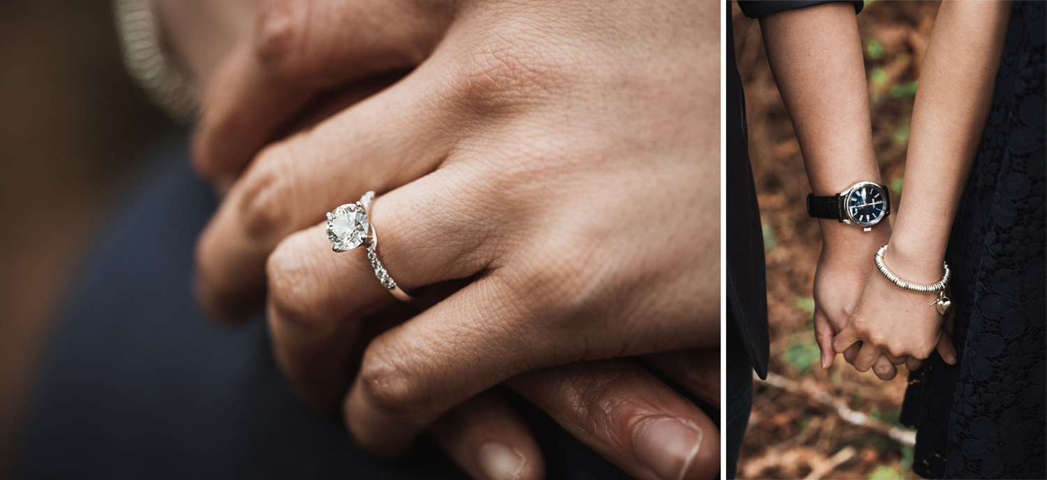 stanley park engagement photographer in vancouver bc ring details