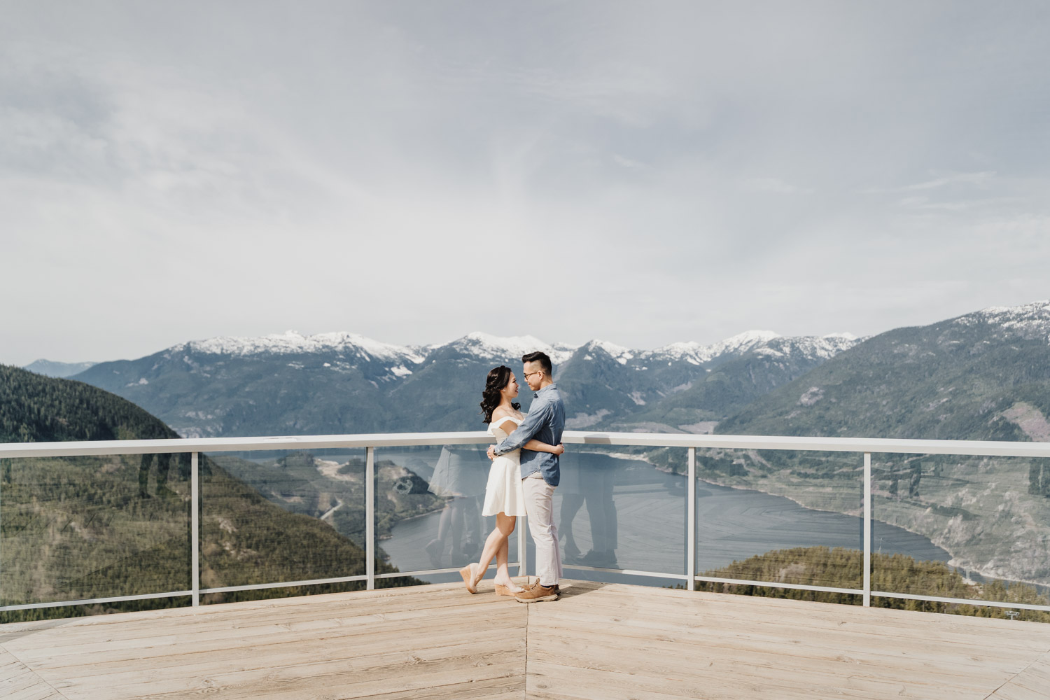 sea to sky engagement photography in squamish, BC peak views