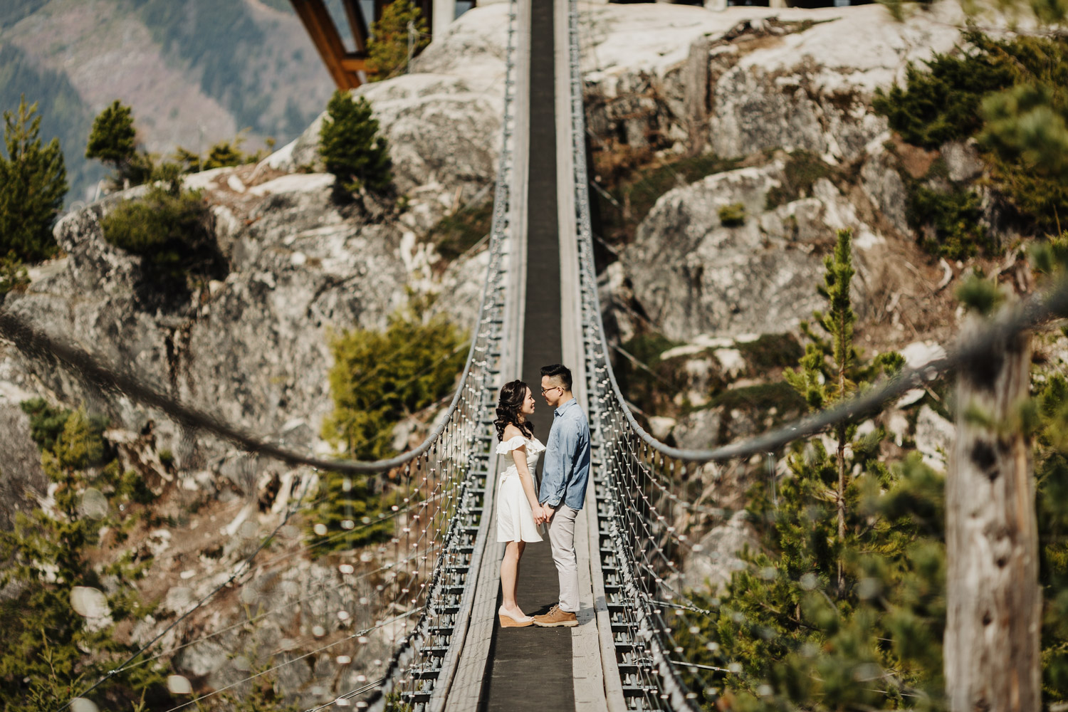 sea to sky gondola engagement photography empty