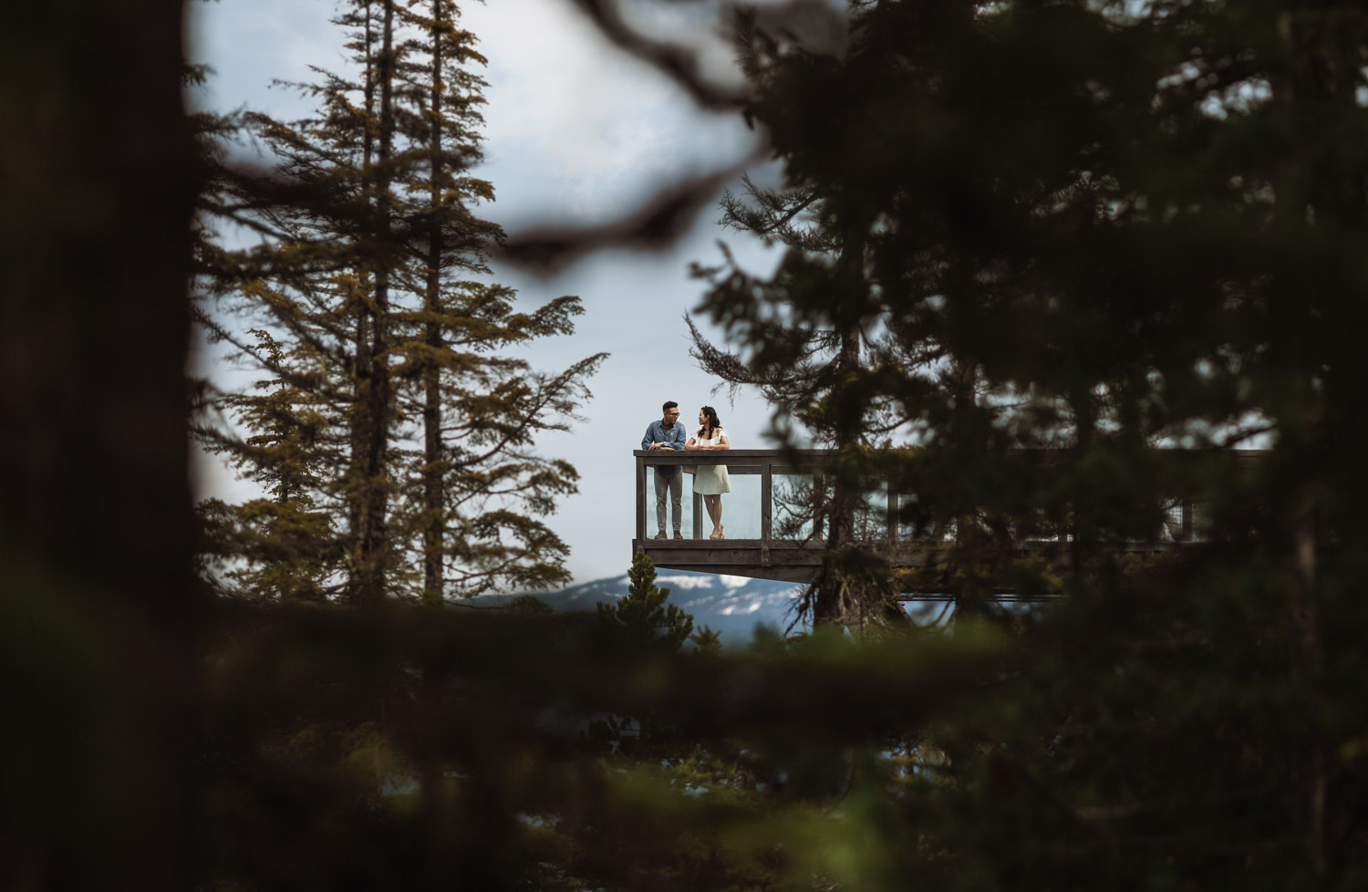 sea to sky gondola engagement photography chief lookout platform