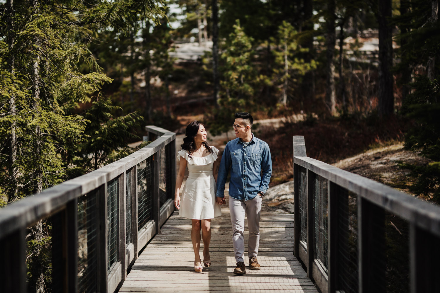 sea to sky gondola engagement photography chief lookout platform squamish bc